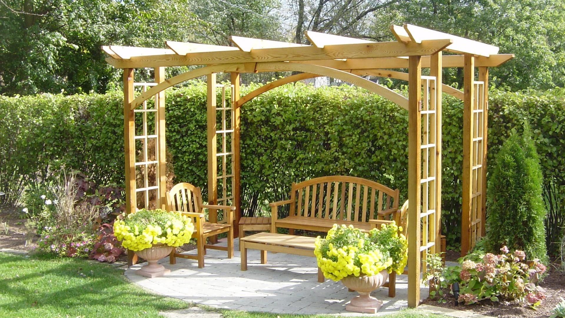 Wooden garden structures abg tree services and hard for Outdoor structures